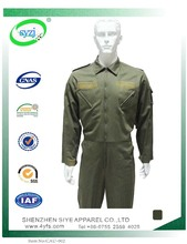 Hot Selling Olive Green 100% cotton Professional Safety Coverall Workwear