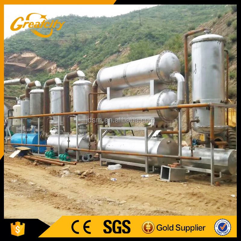 Online waste tyre plastic recycling plant / oil extraction machine