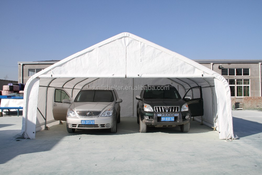 pvc shed fabric tent two car garage steel carport view. Black Bedroom Furniture Sets. Home Design Ideas