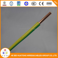 Best sell products Green and Yellow ground cable 1.5mm with CE certificate