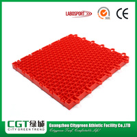 Modular plastic outdoor mobile flooring basketball court floor interlocking tile floors