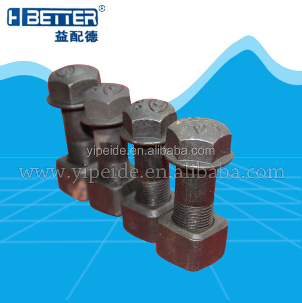 40CR excavator track shoe 8.8/10.9/12.9 grade bolt and nut china manufacture