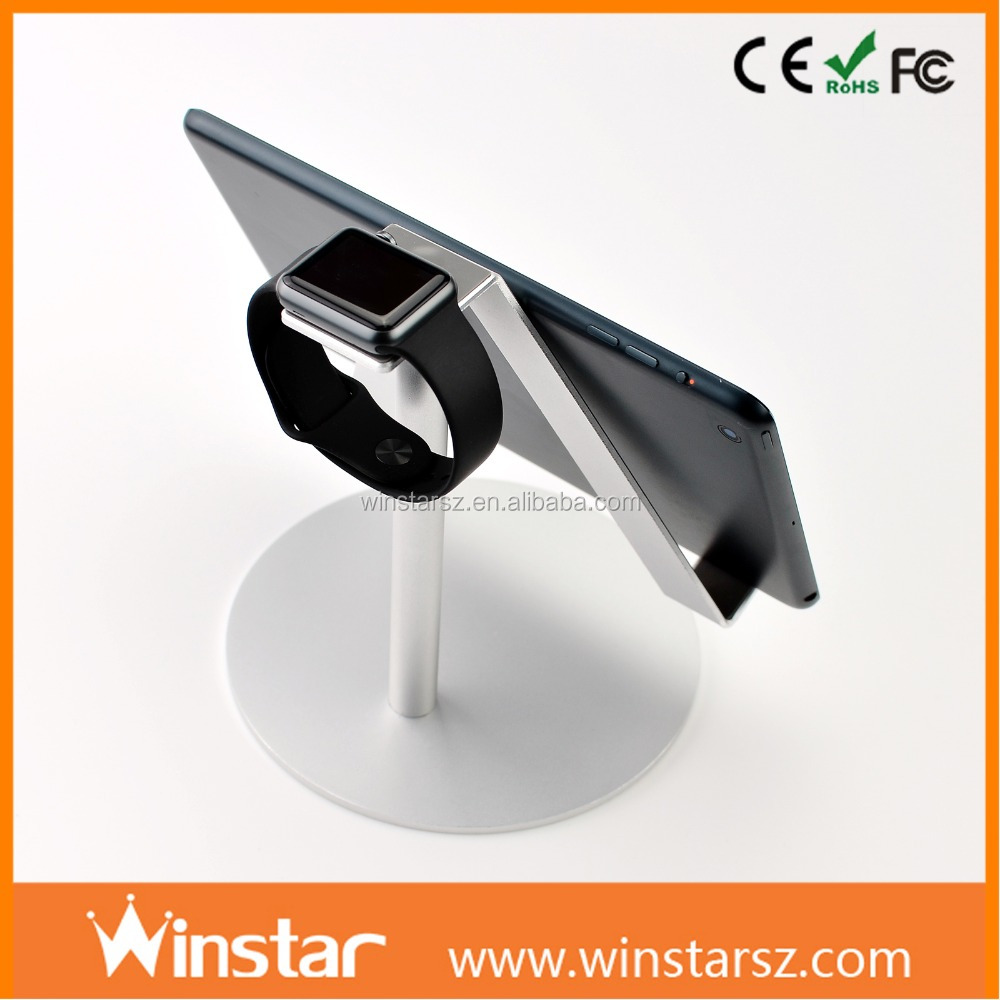 Cell phone sticker card holder for appl Watch iPad mini mini 2 3 4 Air Air 2 3 4 Aluminum tablet stand 2 in 1charging stand