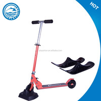 kids snow sledge sleigh slider ski scooter with foldable function