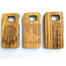 Custom bamboo wood texture protective wood cell phone case for samsung s8