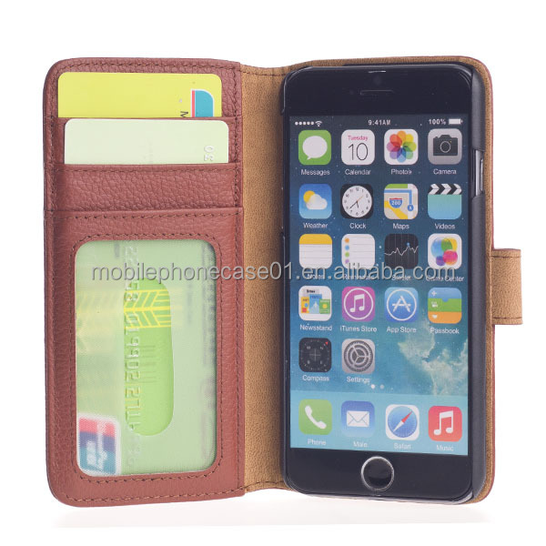 Factory OEM Genuine Leather Mobile Phone Case for iPhone 6 plus