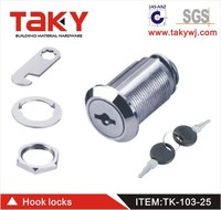 103 chrome plated cam locks for lockers