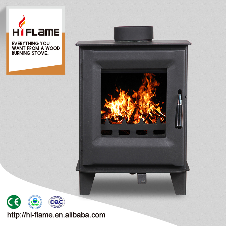 Modern design HiFlame 5KW mini freestanding fireplace wood HF905US
