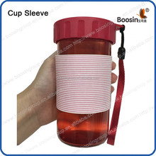 silicone cup sleeve or glass cup sleeve washabale and reusable