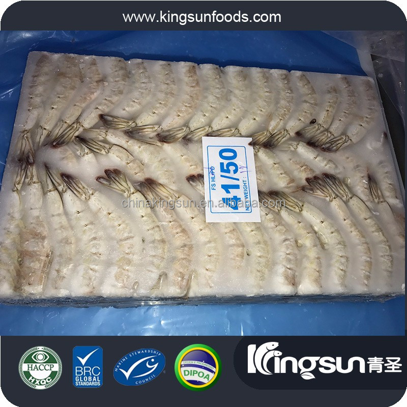 IQF HLSO Frozen Vannamei Shrimp Penaeus Vannamei white shrimp for sale