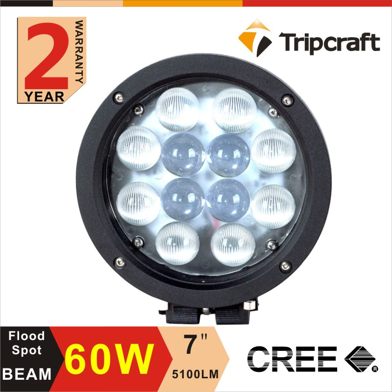 Round high quality good discount china 60 w headlight / Led Work Light for cars , trucks , auto parts
