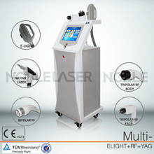 Professional E-light/IPL+RF+ND Yag Laser 3 in 1 hair removal, tattoo removal beauty equipment