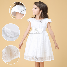 Cheap Summer Latest Design White Cap Sleeve Kids Pageant Dresses Frock Patterns For Baby Girls
