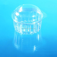 clear plastis food packaging clamshell round containers