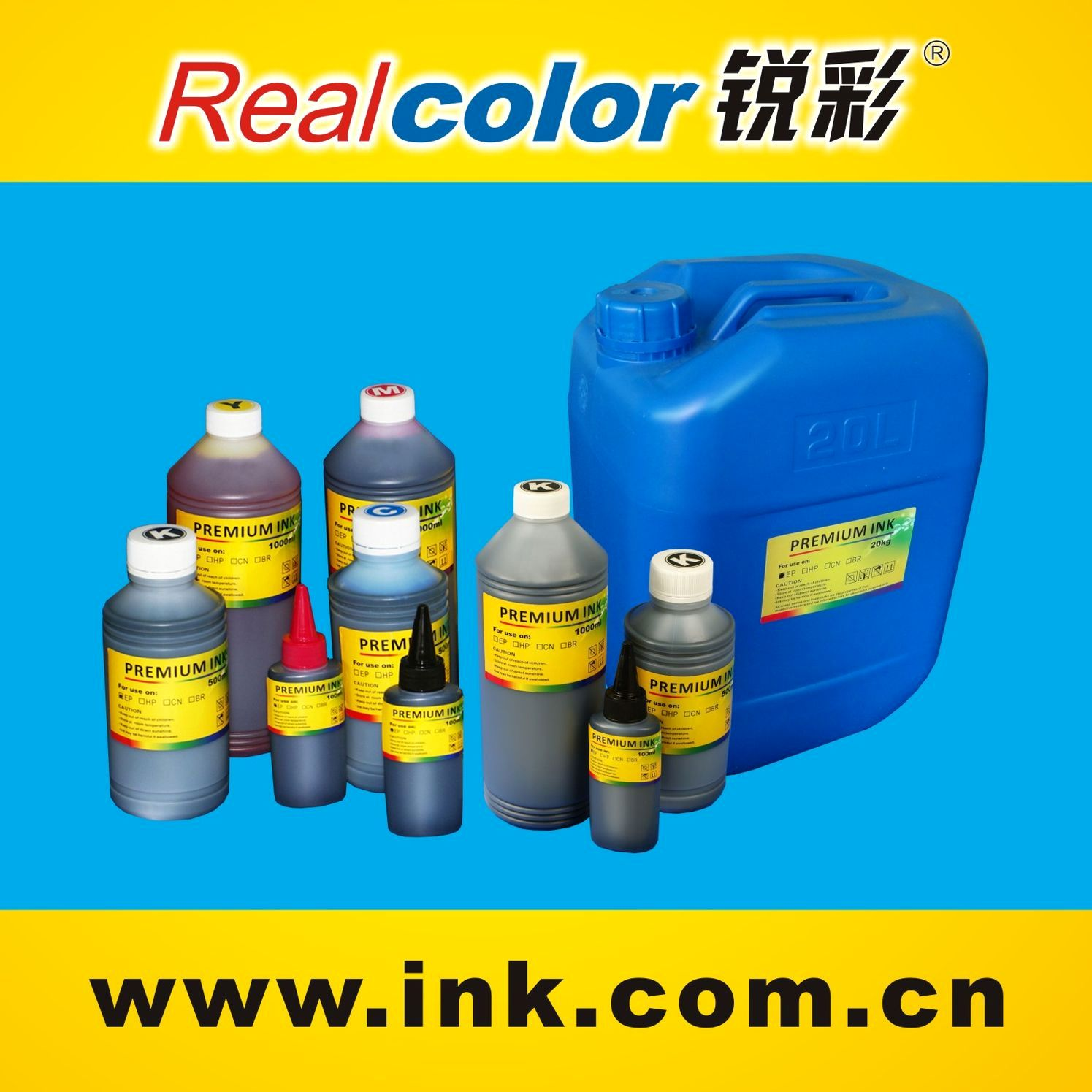 6 Vivid Colors ink for Epson,canon,hp and brother Inkjet Printer