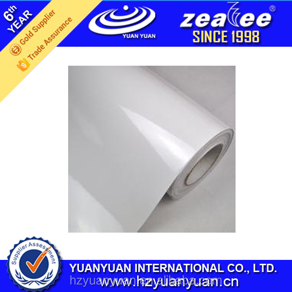 YUANYUAN Air Bubble Free Glossy White Printable Self Adhesive Vinyl Car Sticker Material