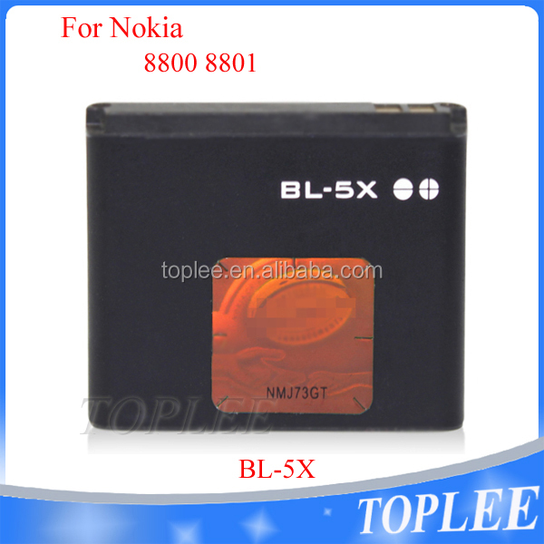 Super high demand li-ion batteries for nokia BL-5X with factory price and AAA quality