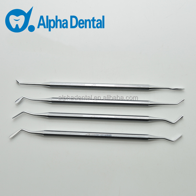 Dental Composite Filling Instruments/4Pcs Set Double Ended Metal Filling Surgical Instrument