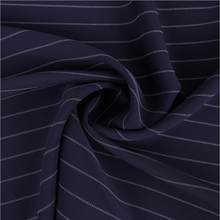 high quality fashion polyester spandex stripes suiting fabric