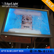 Edgelight Hot sale aluminum clip frame projection advertising equipment backlit window display