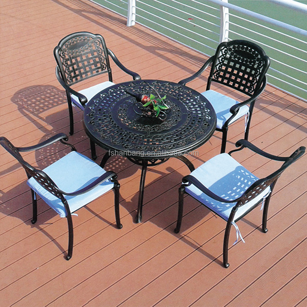 High Quality Cast Aluminum Outdoor Table Swivel Chair Set Buy Outdoor Dining Table Set 1 Table