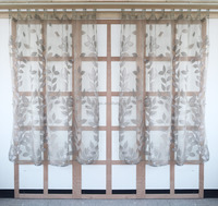 Burnout curtain fabric office french doors luxury ready made kitchen curtains