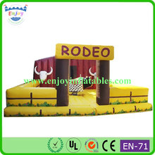 Exciting Bull Inflatable Sport Arena Game, exciting mechanical bull redeo ride, Funny and exciting mechanical cow