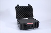 NEW Model No.382718 Gun Pistol Ammo Storage Case Black Lined Locking 2 Keys