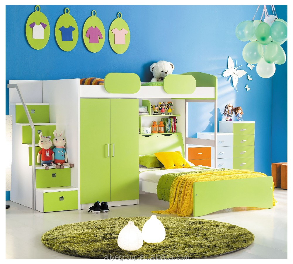 Head board bedroom furniture kids bunk bed and child bed