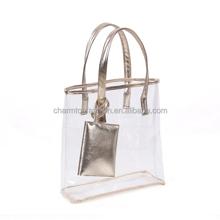 Wholesale New Fashion PVC Waterproof Transparent Hand Bag