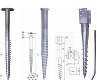 Ground screw piles for ground solar panel mounting system