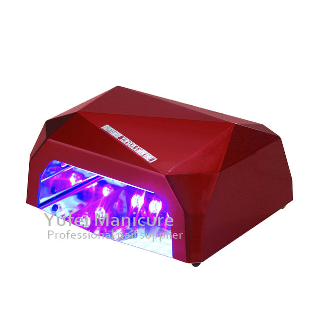 Hotselling CE RoHS professional diamond 36w nail ccfl led gel lamp nail for manicure