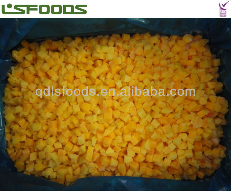 2014 frozen iqf yellow peach cubes