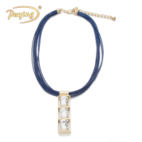 Canton fair best selling women newest design crystal pendant gold choker necklace