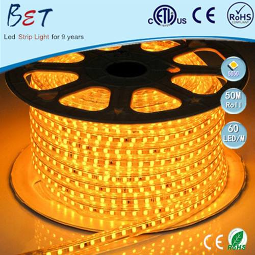 Shenzhen high lumen SMD5050 3528 CE <strong>RGB</strong> 8mm led strip light 60pcs/m 50meters/roll led light yellow 100 meters stripes