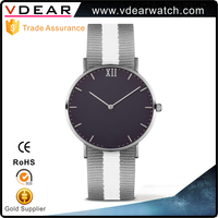 Design your own minimalist 3 atm water resistant quartz stainless steel case back watch