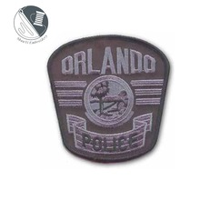 2018 New trend high quality sew Orlando police embroidery patch