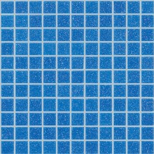 327x327 sand surface blue color 4mm swimming pool glass mosaic