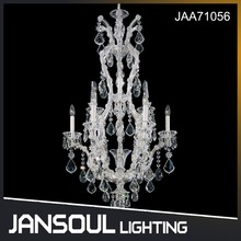 Zhongshan popular designer recommend silver crystal chandelier hanging pendant light for wedding project