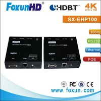 Foxun HDBaseT Extender with POE over 100m CAT5 support 4Kx2K, Ethernet, CEC, Bi-Direction IR, RS232