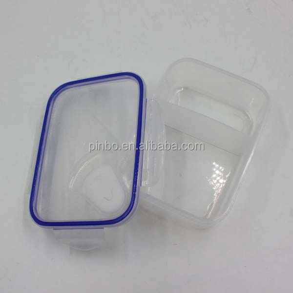 Hermetic Transparent 2 Compartments Lunch Box Keep Food Hot For School