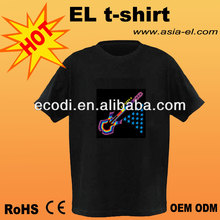 Professional Supplier of EL Luminous T-Shirt ,EL T-Shirt,el tshirt,el flash t-shirt