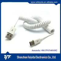 New design type c spring retractable usb cable,usb to rj45 extension adaptor cable