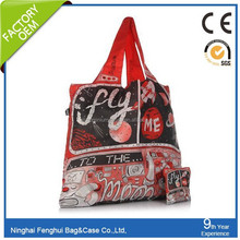 fashion waterproof polyester shopping bag with personalised design
