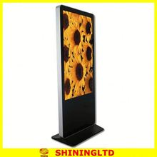 Hot fashion 32 inch floor standing lcd backlit kiosk digital signage touch screen SH3275AIO-T