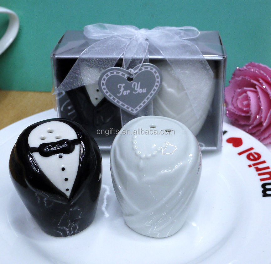 Hot Sell Wedding Gift Items Bride And Groom Ceramic Salt And Pepper ...