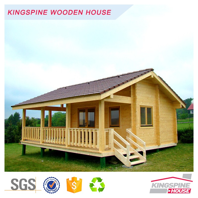 low cost prefabricated solid log house wood frame house KPL-002