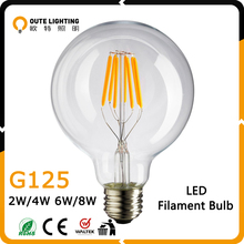 Best Selling Wholesale Vintage Retro 2W 4W 6W 8W G125 E27 Edison Vintage Led Filament Bulb