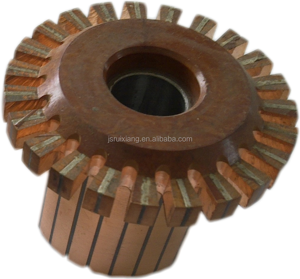 auto commutator groove type crown slot type step type colectores used on DC motor starter