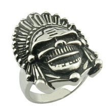 Indian skull gothic ring cool punk ring